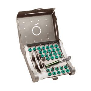 Caja organizadora metálica mediana para 34 piezas